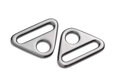 Triangel-Ringe mit Steg 25 mm silberfarbig