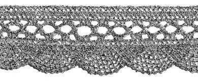 Wholesale Bobbin Lace Lurex 35Mm Gold / Silver