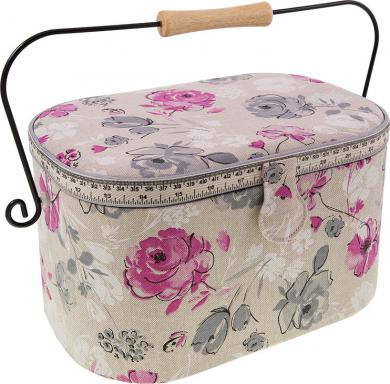sewing basket Watercolor flowers