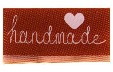 Label Center Fold to Sew on Handmade