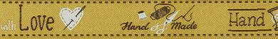 Großhandel Webband Handmade with Love 18mm