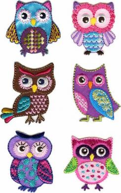 Motif Assortment 6X1 to Iron On Owl