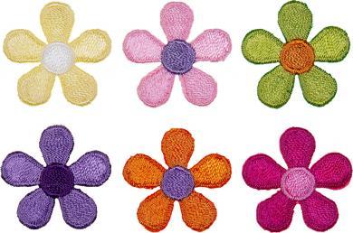 Applikation Sort. 6x1 Blüten