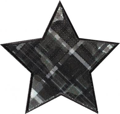 Application iron-on Star checkered green