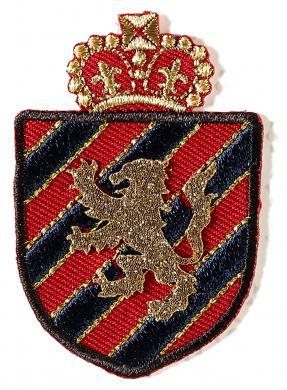 Applikation Wappen blau/rot