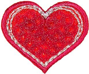 Applikation Herz mit Pailletten