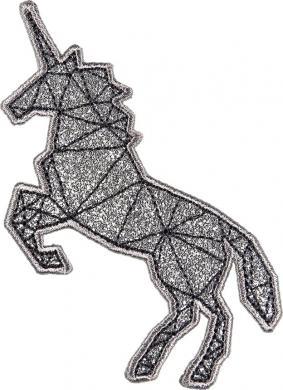 Applikation Einhorn Silber, Grafik