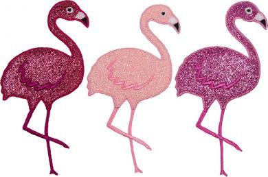 Großhandel Applikation Sort.3x2 Flamingo