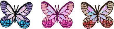 Applikation Sort.3x2 Schmetterling