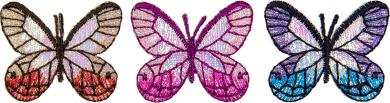 Applikation Sort. 3x2 Schmetterlinge