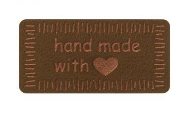 Motif Handmade with Love Brown