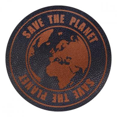 Motif Save the Planet blue