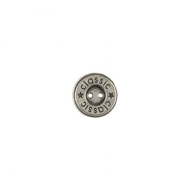 Button 2-hole metal 15mm