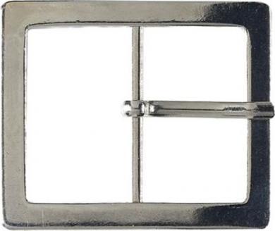 Gürtelschnallen Metall 40mm silberfarbig