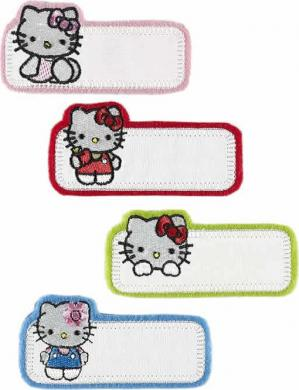 Großhandel Applikation Sort. 4x2 Hello Kitty Namensetikett