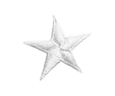 Applikation Stern weiß