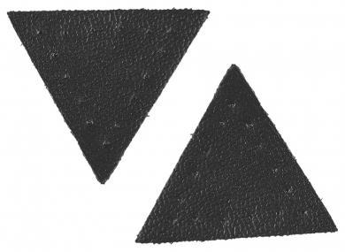 Großhandel Applikation Dreieck Lederimitat schwarz