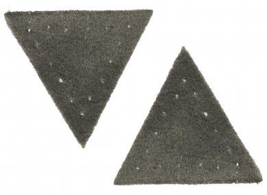 Applikation Dreieck Wildlederimitat grau