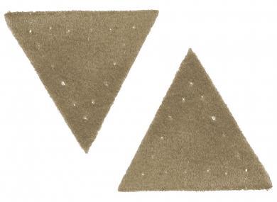 Großhandel Applikation Dreieck Wildlederimitat beige