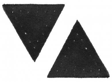 Großhandel Applikation Dreieck Wildlederimitat schwarz