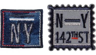 Großhandel Applikation Sort.2x3 Briefmarke NY