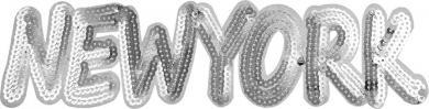 Großhandel Applikation NEW YORK mit Pailletten