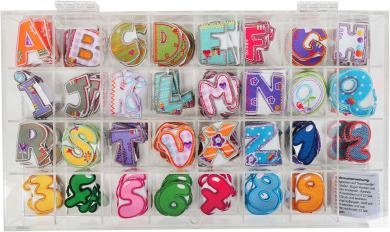 Großhandel Applikation Sortiment Bunt Buchstaben/Zahlen