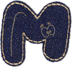Großhandel Applikation Jeans Buchstabe M