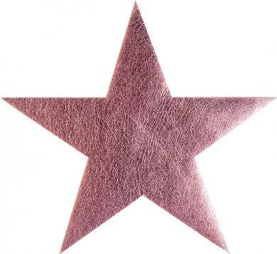 Applikation Stern rosa metallic