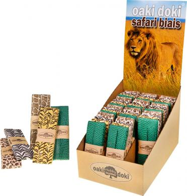 Wholesale Oaki Doki Bias Binding Safari folded 40/20mm Display 60x3m