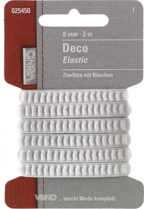 Großhandel Deco Elastic SB 8mm weiß