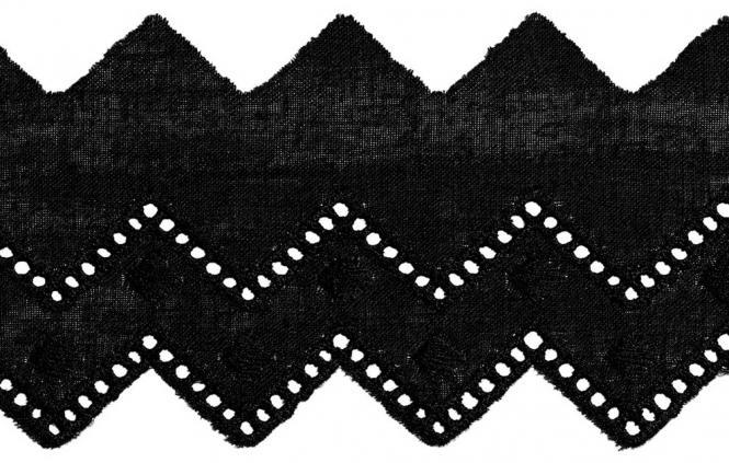 Großhandel Festonspitze 50mm schwarz