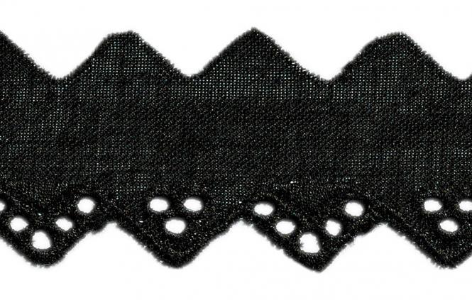 Wholesale Scalloped Lace 20Mm Black 100%Co