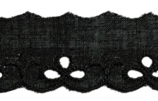 Wholesale Scalloped Lace 25Mm Black 100%Co
