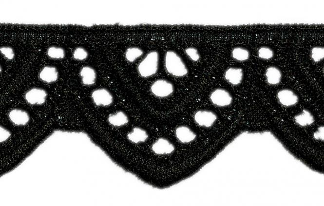 Wholesale Scalloped Lace 24Mm Black 100%Co