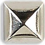 Großhandel Ziernieten 7mm silber Pyramide