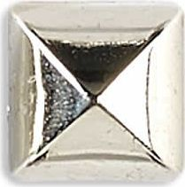 Großhandel Ziernieten 10mm silber Pyramide