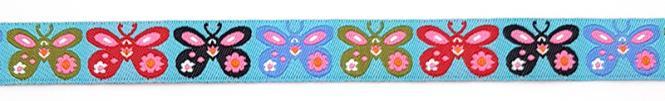 Großhandel Webband Schmetterlinge 15mm