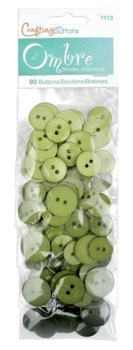 Großhandel Buttons Ombre Olive Green