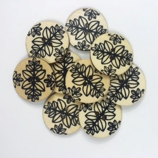 Großhandel Favorite Findings 1781 Black and White Leaf Pattern