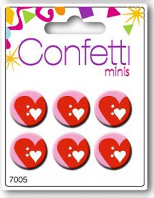 Großhandel Button Mini Confetti