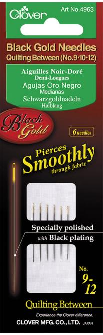 Wholesale Quilt Needle No.9/10/12 Black Gold Pin 6Pcs.