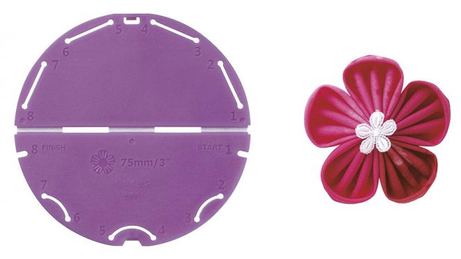 Großhandel Kanzashi-Blumen-Schablone (Orchideenblüte/Große Größe)