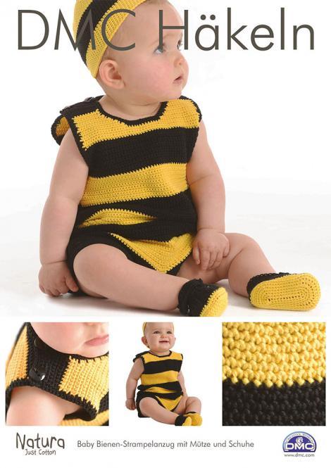 Großhandel DMC Häkelanleitung Baby Bienen-Strampelanzug Mütze u. Schuhe