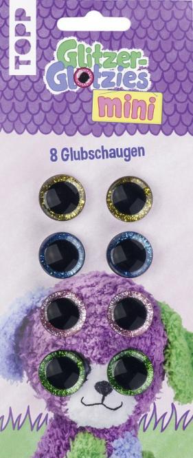 Großhandel Mini Glitzer-Glotzies Glubschaugen 8St