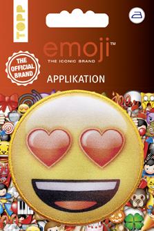 Großhandel Emoji Applikation Lachen mit Herzaugen
