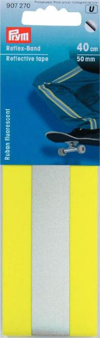 Großhandel Reflex-Band 50 mm selbstklebend gelb / silber