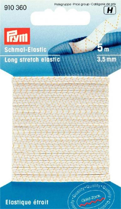 Großhandel Schmal-Elastic 3,5 mm weiß