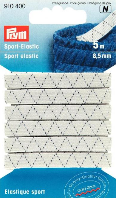 Großhandel Sport-Elastic 8,5 mm weiß