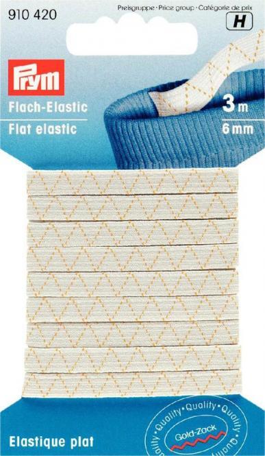 Großhandel Flach-Elastic 6 mm weiß